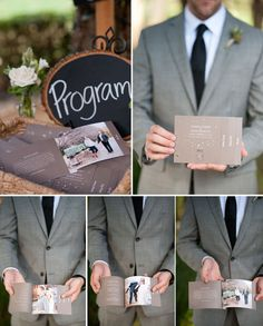 I really love this. It looks expensive... but i really love it  Fabulous Guide to Wedding Programs