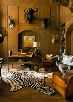 Lions, Tigers, and Bears: A Study with Style. Out with the man cave and in with the study!
