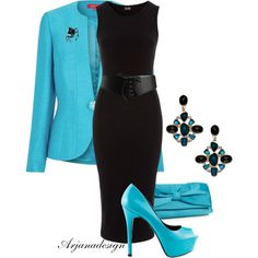 """""""A Very Special Event"""" by arjanadesign on Polyvore  Good business outfit. Professional, but not too severe."""