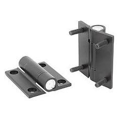 Charnières en aluminium avec friction réglable :  la friction peut être réglée en continu de 0-5 Nm au moyen d'une vis // Hinges aluminium, with adjustable friction // REF 27860