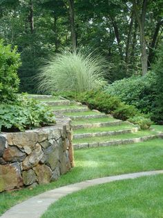 Rustic steps, jh, love the grass steps