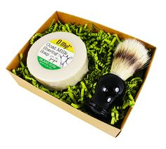 O My! Island Rum Goat Milk Shaving Soap & Brush Gift Pack