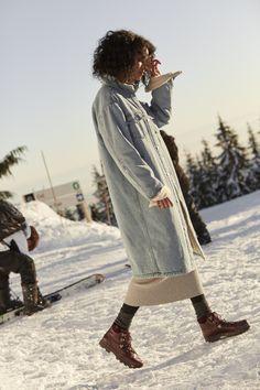 Sherpa, meet denim. Stay warm in the Murad Coat by TNA.