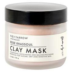 Fig + Yarrow Clay Mask - Rose Rhassoul - 1.2oz already viewed