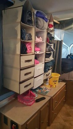 clothes storage pop up campers Camping Storage, Camping Tips, Couples Camping, Glam Camping, Rv Storage, Camping Recipes, Camping Checklist, Storage Ideas, Glamping