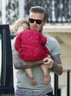 David Beckham and his daughter and some stunna shades.