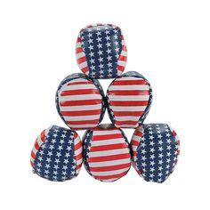 Stars & Stripes Kick Balls - OrientalTrading.com