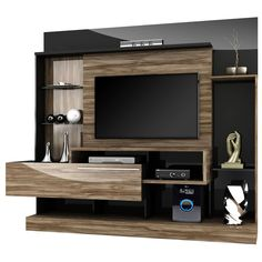 Home Theater Supremo Dj Carvalho & Preto Modern Tv Cabinet, Modern Tv Wall Units, Tv Cabinet Design, Tv Wall Design, Tv Unit Design, Home Theater Setup, Home Theater Seating, Backdrop Tv, Tv Wanddekor