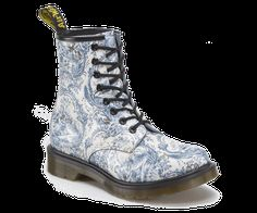 Doc Marten boots in TOILE.  Couldn't you just die?  1460 Womens