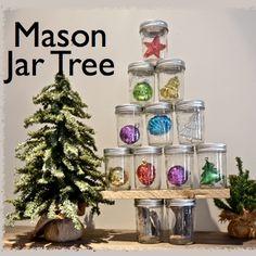 Mason Jar Tree SQ #tree #masonjar #christmastree