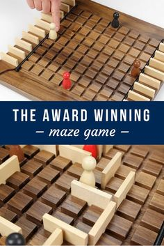 With each turn, you're faced with a decision: move your pawn or place a wall to hinder your opponent. The first pawn to the other side wins. This Marbles branded Exclusive boasts a high-quality walnut board and jumbo playing pieces. It's part game, part centerpiece – and 100% fun!