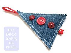 a.n.i.m.é.: Décoration pour le sapin en jeans recyclé - patron de couture gratuit                                                                                                                                                                                 Plus