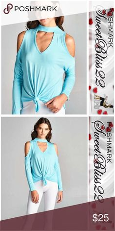 💎Cold Shoulder Blue Top💎 Love love love this top! Just in time for Spring! Tops