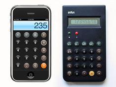 INFLUENCE: Braun ET66 Calculator vs iPhone Calculator