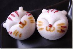 Japanese Manju Cats ネコまんじゅう...Manju are traditional Japanese sweets usually made…