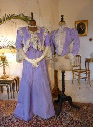 antique evening dress 1902