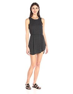 Mododoc Womens Textured Slub Stripe Tank Dress Peri Dress * Check out this great product.