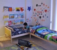 the boo and the boy: a shared big boys' room
