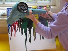 Melted crayon art - preschool   FA.1.23 Describe artwork and interpret potential intentions of the artist.  FA.1.24 Express feelings of artwork.