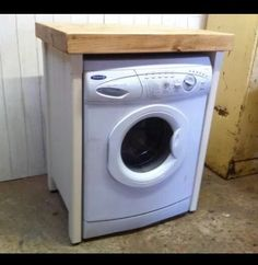 Pine Freestanding Handmade Appliance Gap Unit Dishwasher Washing Machine  Housing