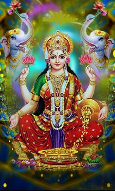 Lakshmi is referred to as the goddess of fortune, identified with Sri and regarded as wife of Viṣṇu.