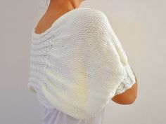Ivory Shrug Bolero Bridal Shrug Cream Pearl Soft Elegant Chic Romantic Wedding Sweater MADE TO ORDER. $80,00, via Etsy.
