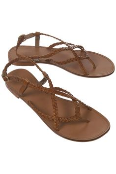9915a75575aef5 HARLEY PLAITED TAN SANDALS