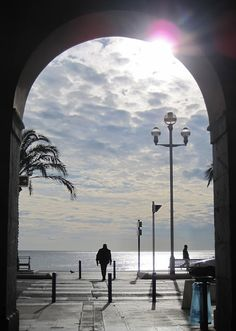 Archway in Nice, France. Will look out for this one on next visit. Nice Ville, Ville France, Silhouette, French Riviera, Dark Night, Best Cities, France Travel, The Good Place, Nice City