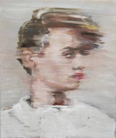 """Portrait 1,"" expressionist portrait painting by One to Watch artist Pauline Zenk. Learn more: http://magazine.saatchiart.com/articles/artnews/saatchi-art-news/one-to-watch/pauline-zenk"