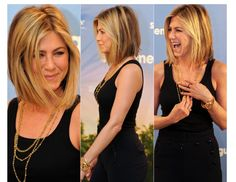 Cute bob hair cut- Jennifer Aniston always is on top of her hair game.