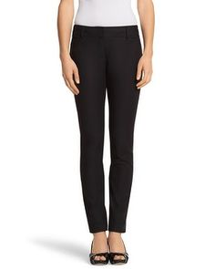 One of the best styles of (basic black) WHBM Pants you could have in your wardrobe! (White House Black Market Perfect Form Full Length Pant #whbm)
