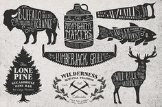 Rustica Vector Pack Vol. 2 + 8 Logos by MakeMedia Company, via Behance