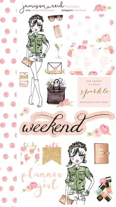 Fashionista Planner Girl decorative stickers - Kate Spade | Erin Condren | Happy Planner | ECLP | Filofax | mambi