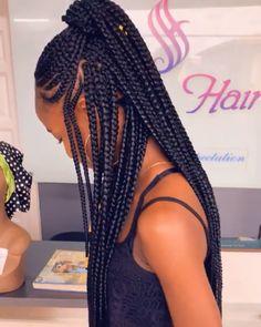 Video amazing hair braiding cornrow hairstyles chythegreatest in jumbo trial braids Braided Cornrow Hairstyles, Braided Hairstyles For Black Women, African Braids Hairstyles, Cornrows, Girl Hairstyles, African Hair Braiding, Evening Hairstyles, Hairstyles 2018, Natural Hair Art