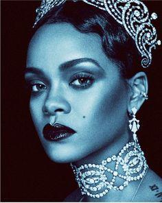 Beauty Editorial, Editorial Fashion, Rihanna Fenty Beauty, Rihanna Style, Cartier Earrings, Prada, Post Apocalyptic Fashion, W Magazine, Magazine Covers