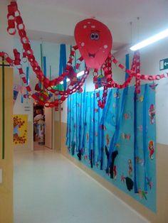 Resultado de imagen para ideas para decorar una sala de jardin de infantes con el mar