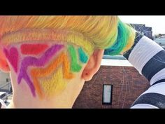(4) RAINBOW HAIR  - Harajuku Style - Japan - Kawaii!! - YouTube https://www.youtube.com/watch?v=rQGbk5t_mzk
