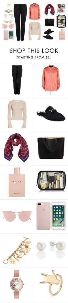 """""""glam queen"""" by cassandra-beauchamp on Polyvore featuring T By Alexander Wang, A.L.C., Steven by Steve Madden, Karen Walker, Gucci, So.Ya, Chanel and Olivia Burton"""