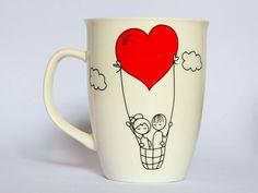 Caneca Balão de Coração - Laislandia - Mundo Criativo