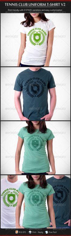 Tennis Club Uniform T-Shirt Template V2 - DOWNLOAD NOW !