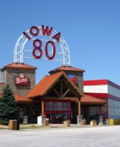 Iowa 80, World's Largest Truck Stop. OMG I cant believe this made it onto pinterest,  I grew up like 2 minutes away!!!