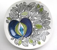 Rorstrand Sweden Eden handpainted plate designed by Marianne Westman Scandinavian Design Swedish retro