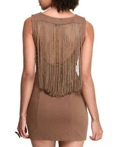 Love this Body Con Dress w/fringes by Fashion Lab on DrJays. Take a look and get 20% off your next order!