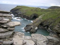 Merlin's Caves at Tintagel Castle in Cornwall