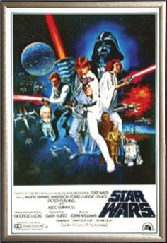 Buy Star Wars: A New Hope Vintage 24x36 Dry Mount Poster Gold Wood Framed - Topvintagestyle.com ✓ FREE DELIVERY possible on eligible purchases