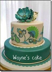 APPLIQUE CAKE (FONDANT)