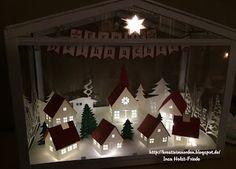 Kreativ im Norden: Adventshäuser, weihnachtliches Dorf, Ikea Socker ,  Ikea Gewächshaus
