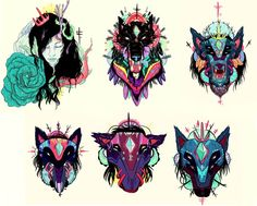 Great Color Study  stickers ::[ ] by nijah lefevre, via Behance