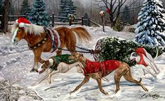 """Greyhound Christmas Holiday Cards are 8 1/2"""" x 5 1/2"""" and come in packages of 12 cards. One design per package. All designs include envelopes, your personal message, and choice of greeting.Select the inside greeting of your choice from the menu below.Add your custom personal message to the Comments box during checkout."""