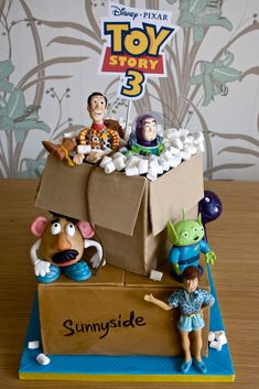 toy story cake. i can't believe it's all edible.